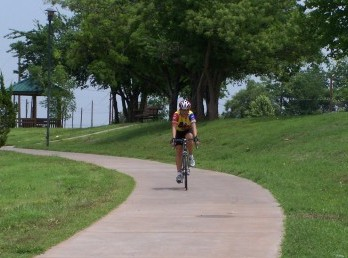 Bicyclist on MPEC Trail