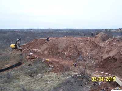 Wichita Bluff Trail Under Construction