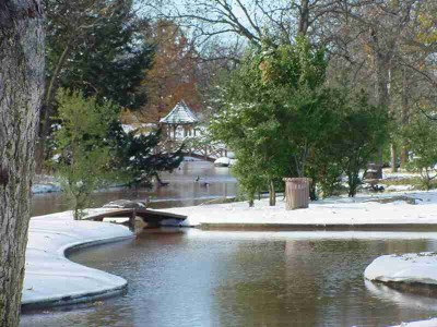Snow on Lucy Duck Pond